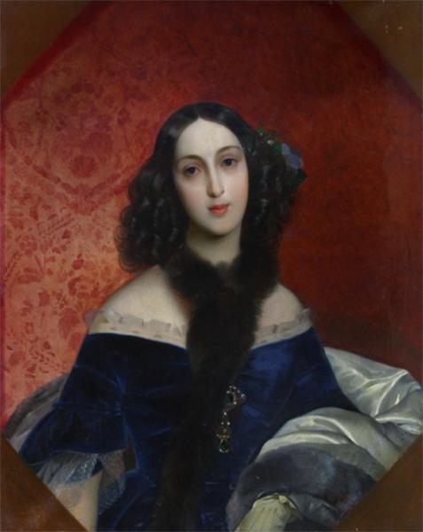 В 1840 году Брюллов создал портрет княгини Марии Вяземской, двоюродной тётки Михаила Лермонтова. В то время Вяземская была замужем за помещиком Иваном Беком и носила его фамилию. Сейчас работа находится в Национальной картинной галерее Армении в Ереване.