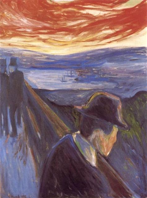 В 1889 году Мунк смог позволить себе купить дом в Осгордстранде, пейзажи которого вдохновляли художника в моменты усталости и истощения. Здесь он создал известный цикл работ «Фриз жизни», нашедший отражение в эмоциональных переживаниях Мунка.