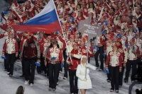 Алексей Морозов – знаменосец сборной России на Играх в Ванкувере.