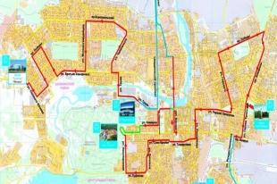 Точный маршрут эстафеты Олимпийского огня в Челябинске и Магнитке. Схемы