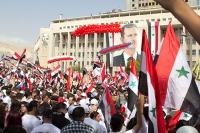 Проправительственная демонстрация в столице Сирии Дамаске.