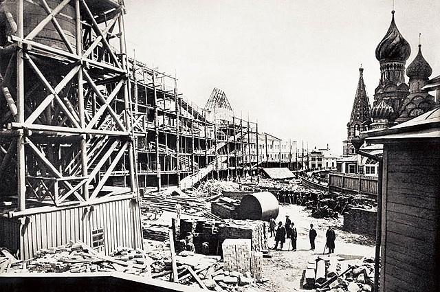 Строительство новых торговых рядов, 1892 год.