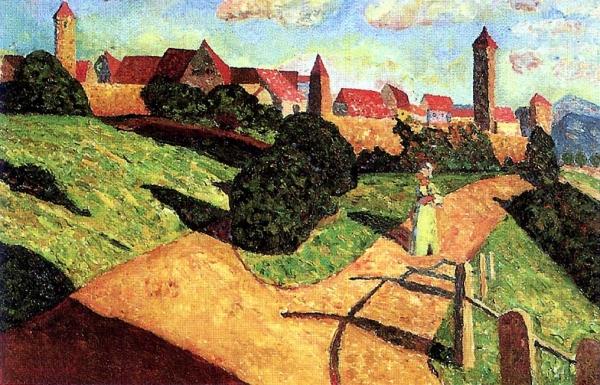 Годом позже онуезжает вМюнхен, где поступает вместную академию художеств, чтобы обучаться онемецкого живописца искульптора Франца фон Штука.