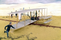 Первый полёт братьев Райт. Фрагмент диорамы.