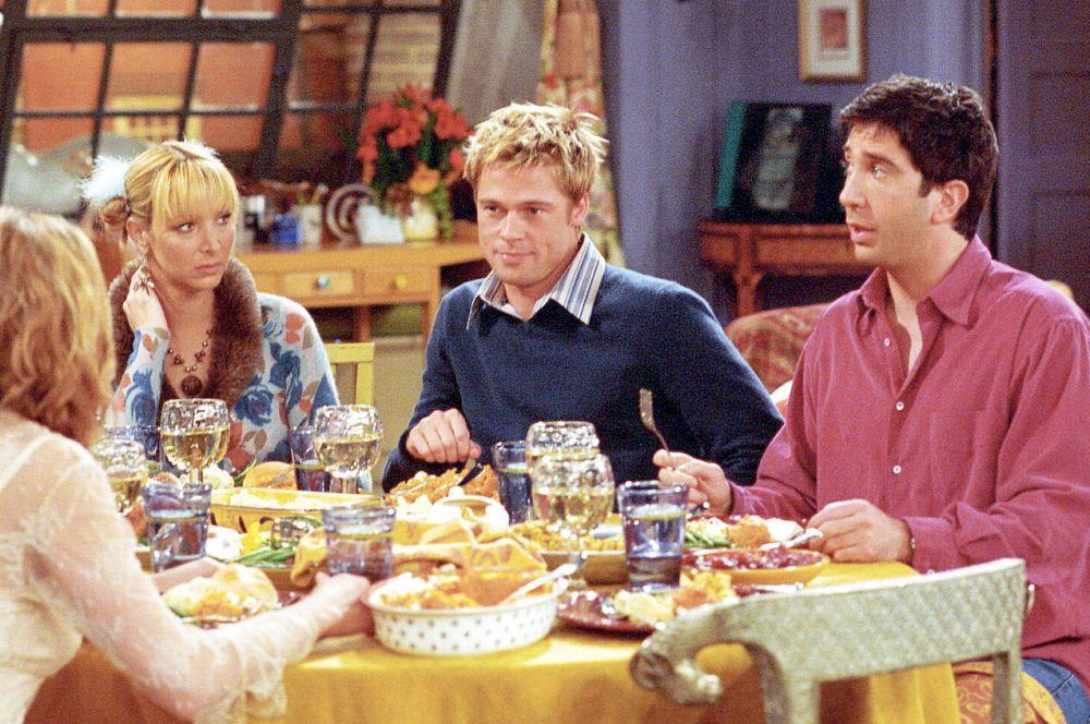 В 2001 году Брэд Питт сыграл в восьмом сезоне сериала «Друзья». Его персонаж прежде учился в одном классе с несколькими главными героями и одну из них тайно ненавидел. Вернувшись, он попытался испортить жизнь бывшей однокашнице, но не преуспел.