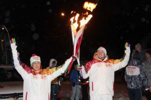 В Магнитогорске Олимпийский огонь окажется между Европой и Азией