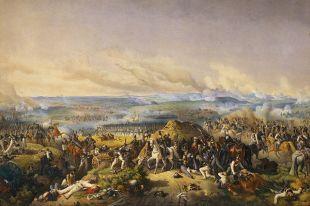Репродукция картины «Бородинское сражение. 26 августа 1812 года» Петера фон Гесса.