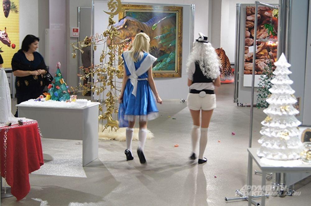 Алиса и Белый Кролик на прогулке