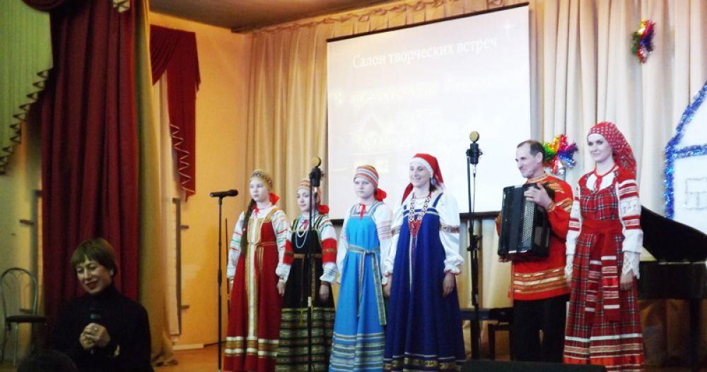 Концерт завершился народными песнями