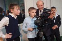 Руководитель телестудии Алексей Артюх и его ученики