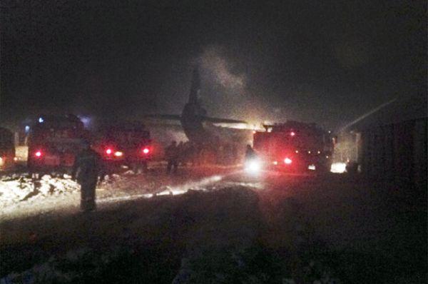 По предварительным данным пресс-службы регионального МЧС, на борту самолета находилось 6 членов экипажа, и 3 авиатехника