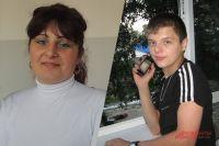 Брил Базуев с мамой Мариной.