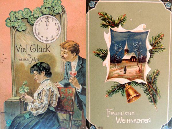Немецкие открытки были популярны и надписи на чужом языке никого не смущали.