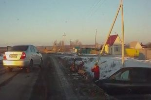 Погоня в Челябинской области закончилась дракой с ножом и лопатой