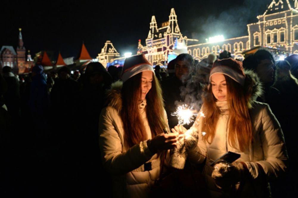 Центр Москвы - традиционное место для массового отмечания праздников.