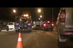 Под Челябинском столкнулись девять автомобилей, есть пострадавший