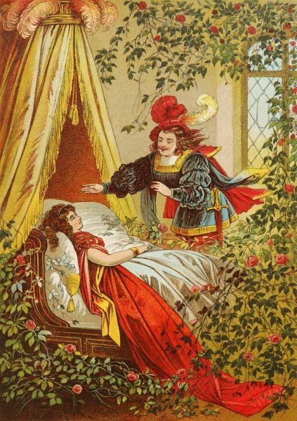 Иллюстрация Хайнриха Лойтеманна к сказке «Спящая красавица», XIX век.