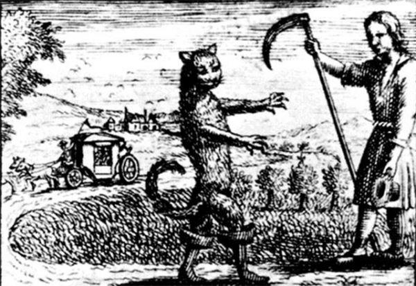 Гравюра Антуана Клуазье к изданию сказки «Кот в сапогах», конец XVII века.