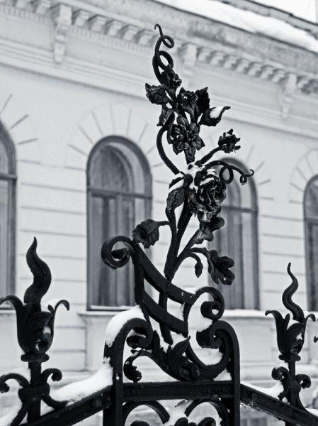 Украшением дом купца Шатрова, известного сейчас как Дворец бракосочетаний, стала старинная кованая ограда