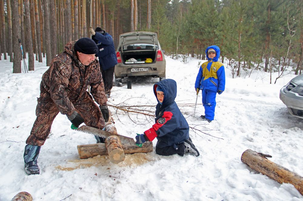 Первое дело в лесу – дрова.