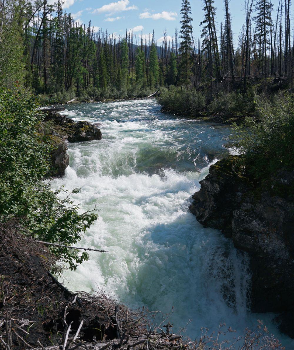 Водопад на реке Чойган-Хем. Саяны