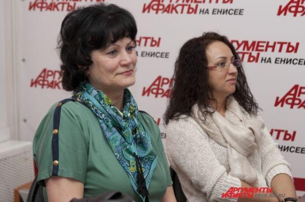 Главный редактор «АиФ на Енисее» Ольга Лобзина и генеральный директор Светлана Ковригина