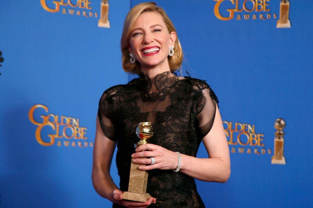 Кейт Бланшет за роль в новом фильме Вуди Аллена «Жасмин» была удостоена награды в номинации «Лучшая женская роль в драматическом фильме».