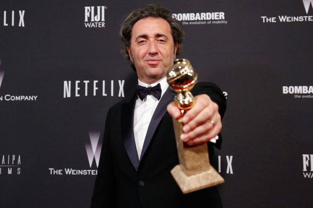 Лучшим фильмом на иностранном языке была признана итало-французская трагикомедия «Великая красота» Паоло Соррентино. Награду забрал продюсер Никола Джулиано (на фото).