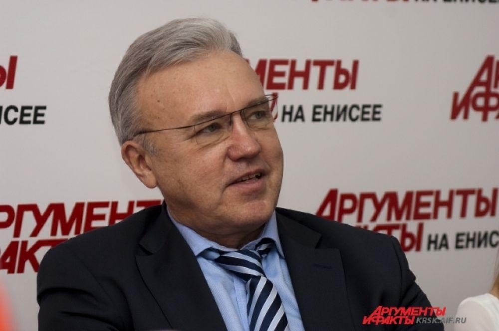 Спикер Заксобрания Красноярского края Александр Усс