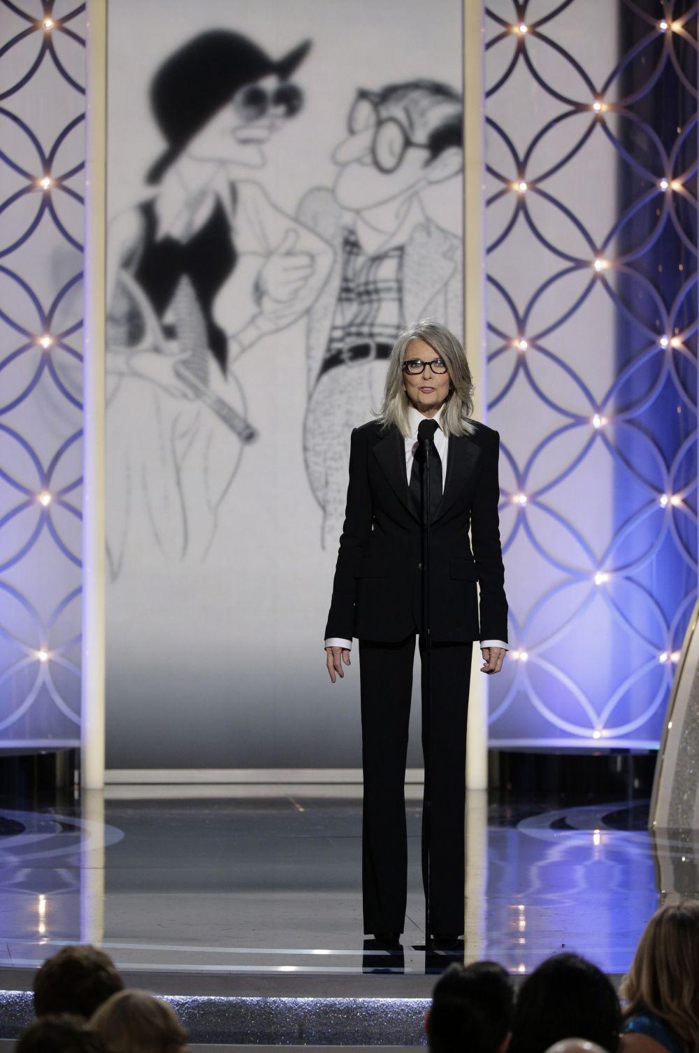 Сам Вуди Аллен за вклад в кинематограф получил Премию Сесиля Б. Де Милля. Режиссёр на церемонии не появился и его приз забрала Дайан Китон.