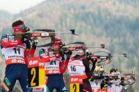 Евгений Гараничев в мужской гонке преследования на пятом этапе Кубка мира в Рупольдинге.