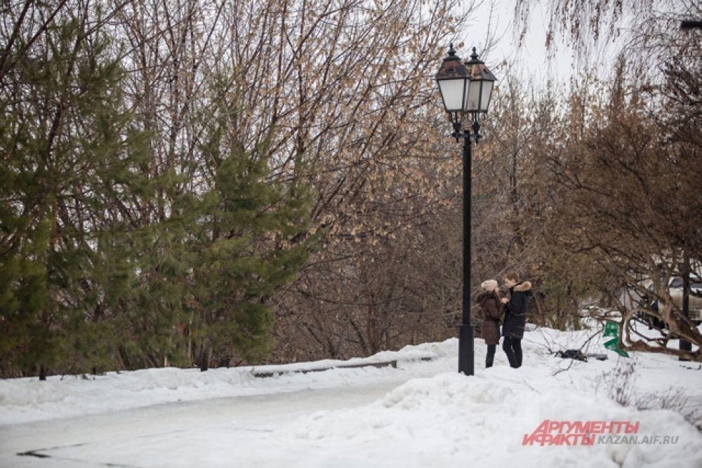 В новый год термометр не опустился ниже отметки в – 10 градусов