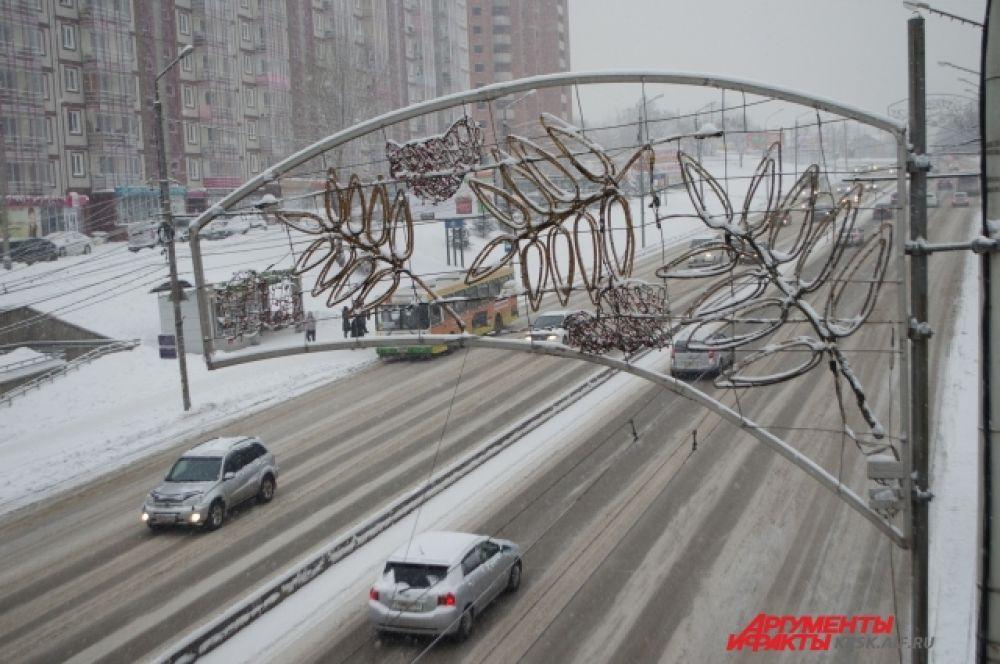 На дорогах города может сохраняться гололед и снежная каша.