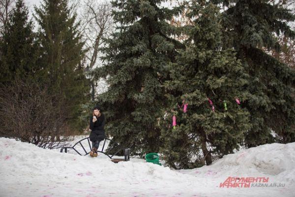 После праздников  пошел дождь, мокрый снег, а на градуснике доходило до + 2 градусов