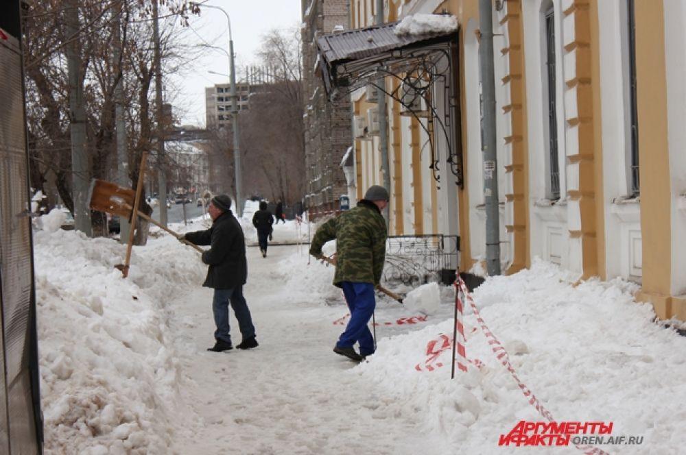 Теплой погоде всегда сопутствует большое количество свежевыпавшего снега.