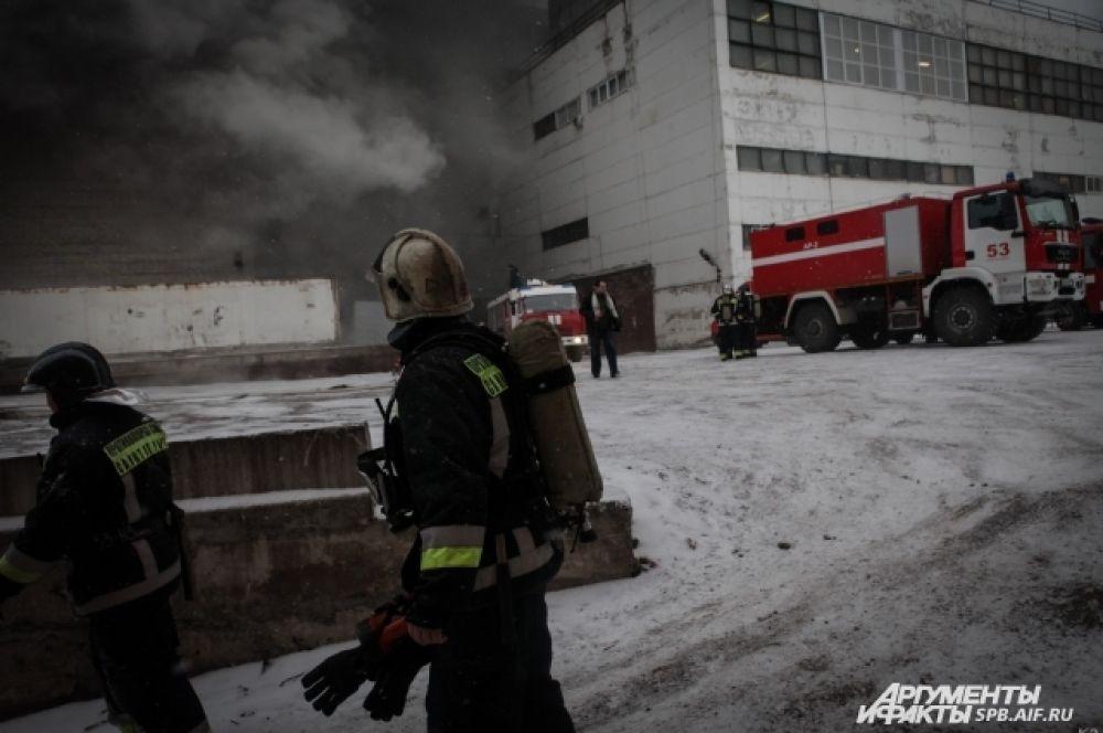 Пожар на заводе имени Козицкого — эксклюзивные кадры