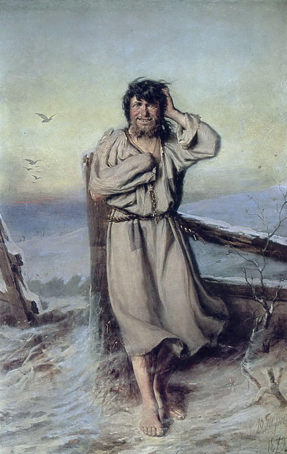 В 1879 году Василий Перов под влиянием печальных обстоятельств жизни начал серию «евангельских» картин, а также написал несколько эскизов на сюжеты русских народных сказок.