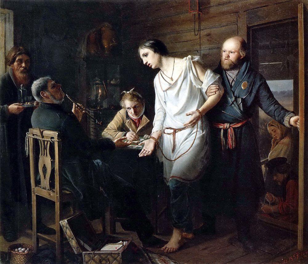 За эту картину Василий Перов в 24 года получил большую серебряную медаль.