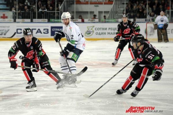 Хоккейный матч «Авангард»-«Медвешчак».