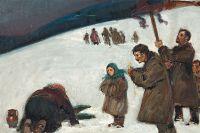 Картина Теодора Аксентовича «Православное крещение», конец XIX века.