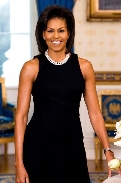 Официальный портрет Мишель Обамы в Белом доме, 18 февраля 2009 года.
