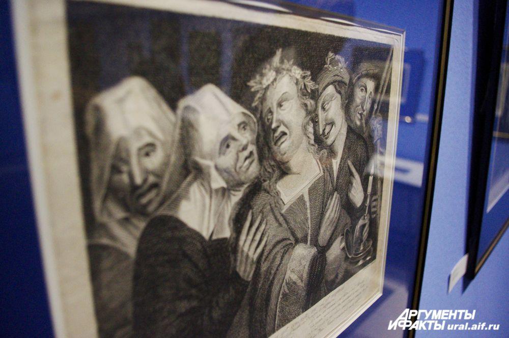 Представленные на выставке работы составляют основу европейской графики.