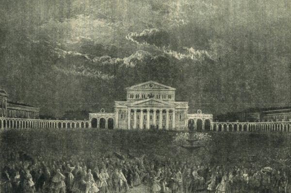 28 лет спустя театр сгорел, однако всего за три года был восстановлен и в 1856-м снова открылся. На этот раз для церемонии открытия была выбрана опера Винченцо Беллини «Пуритане».