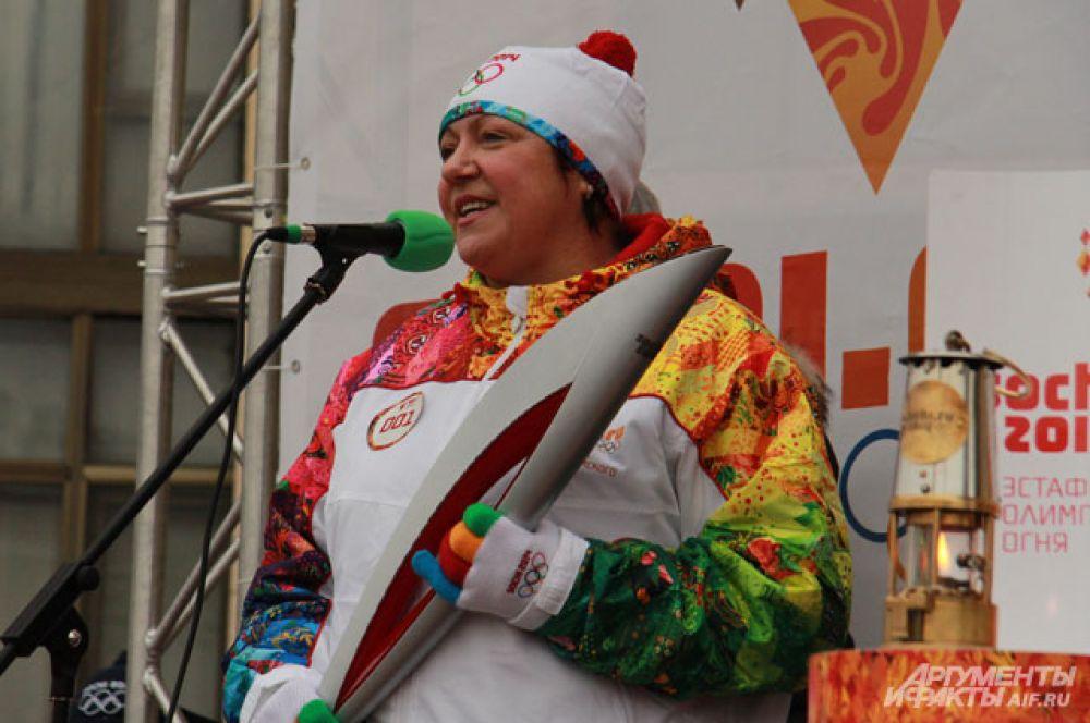 Ирина Макогонова рассказала о важности эстафеты для Воронежа.