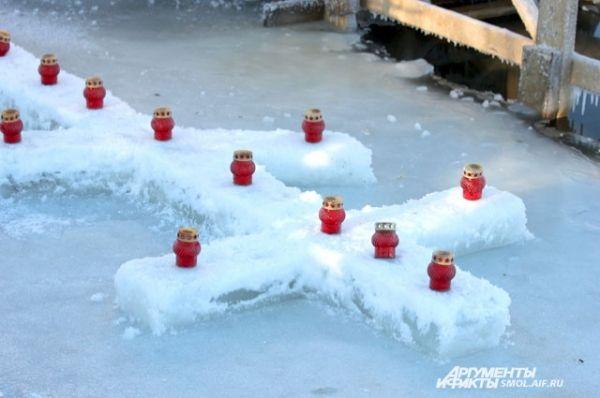 Крест изо льда.