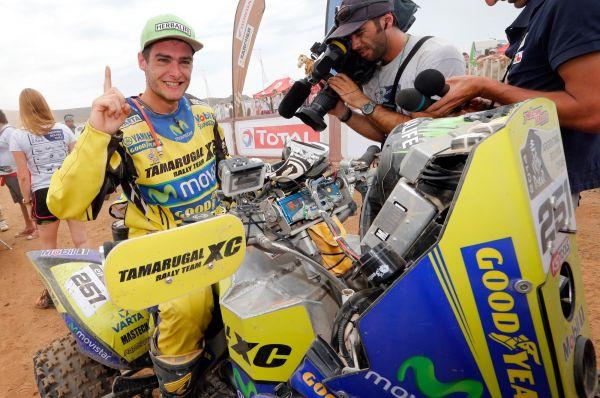 В зачёте квадроциклов неожиданную победу одержал чилиец Игнасио Касале, хотя фаворитами этой категории традиционно считаются братья Патронелли.