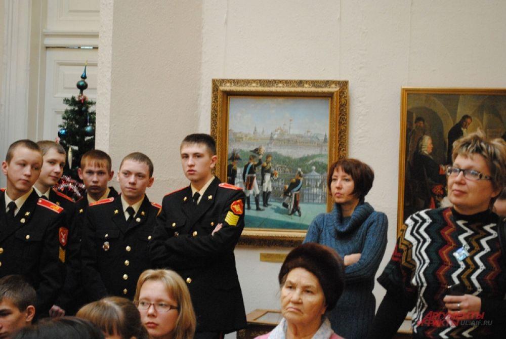 Суворовцы на фоне европейских государей начала XIX века