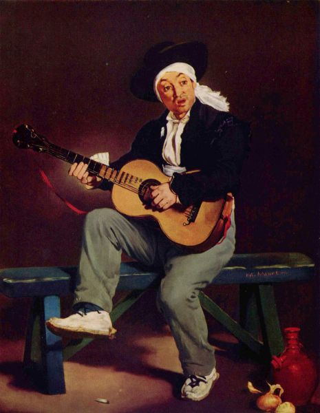 Двумя годами позже Мане предпринял ещё одну попытку принять участие в Парижском салоне. На этот раз жюри одобрило картину «Гитарреро», за которую художник помимо прочего получил премию, вместе с которой к нему пришли первые заработки и признание публики.