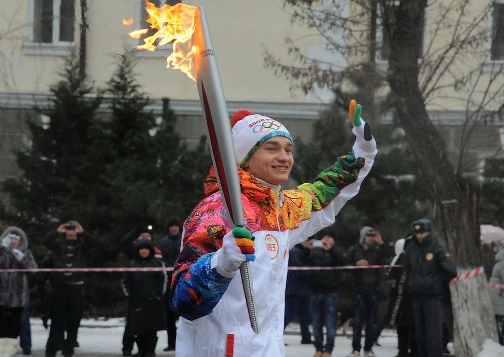 22 января в Ростов прибыл Олимпийский огонь