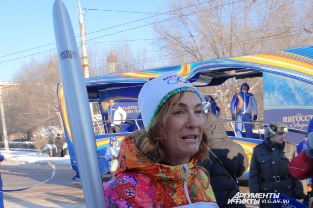 Юлиана Слащёва приехала из Москвы ради участия в волгоградском этапе эстафеты